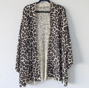 Show me your mumu Easy Cheetah Club Knit Caridgan